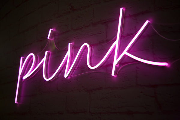 pink LED neon sign example of LED NEON sign vs real neon light