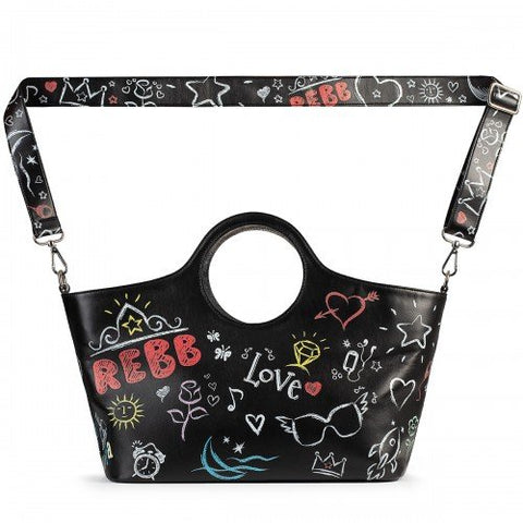 SHOPPING LAVAGNA - Borsa a Spalla Media  - Colore Nero