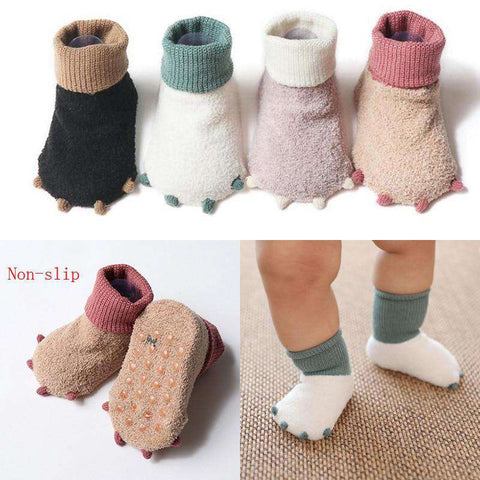 New cute little paws autumn and winter newborn socks casual warm baby foot sock