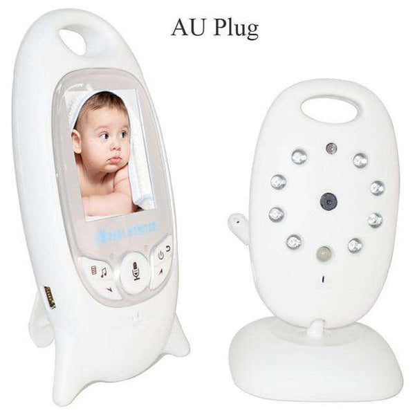 Video Baby Monitor With Camera Audio Wireless 2.4Ghz LCD 2 Way Talk Night Vision IR LED Temperature Monitoring  8 Lullaby