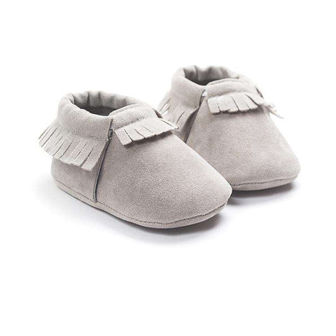 2019 PU Suede Leather Newborn Baby Moccasins Shoes Soft Soled Non-slip Crib First Walker - Baby-majesty