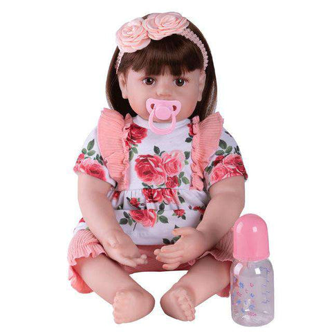 New 60cm Rose Dolls Newborn Colored  Baby Doll Toy Girl Reborn Vinyl Girls Dolls Children High Heel Suit Soft Silicone - Baby-majesty