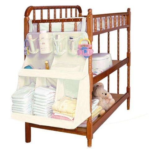 Newborn Baby Crib Bed Hanging Bag Inafnt Bedside Nappy Diapers Organizer Bag Portable Children Bedding Cloth Storage Rack Cradle - Baby-majesty