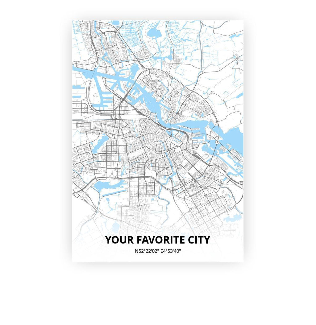 Customizable city poster poster - - Printmycity