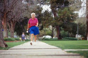 Walking is a great way to keep legs and veins healthy.