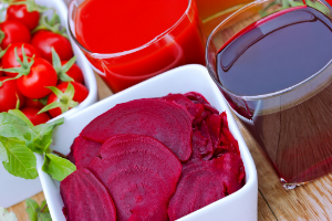 beets and tomatoes are good for heart health