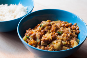 Lentil pumpkin curry with apples