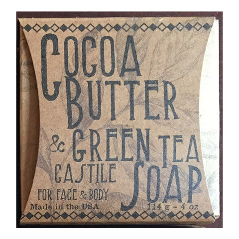 COCOA BUTTER & GREEN TEA SOAP