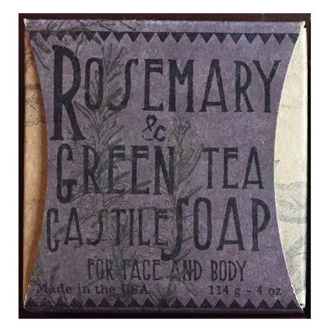 ROSEMARY & GREEN TEA SOAP