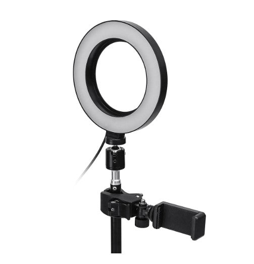 BritemyselfX, Dimmable LED Studio Camera Ring Light Makeup Photo Lamp Selfie Stand USB Plug Tripod with Phone Holder for Youtube Video