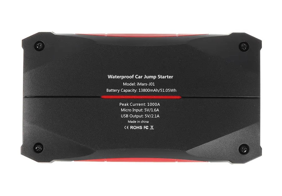 Pwrjuicex, Portable Car Jump Starter 1000A Powerbank Emergency Battery Booster