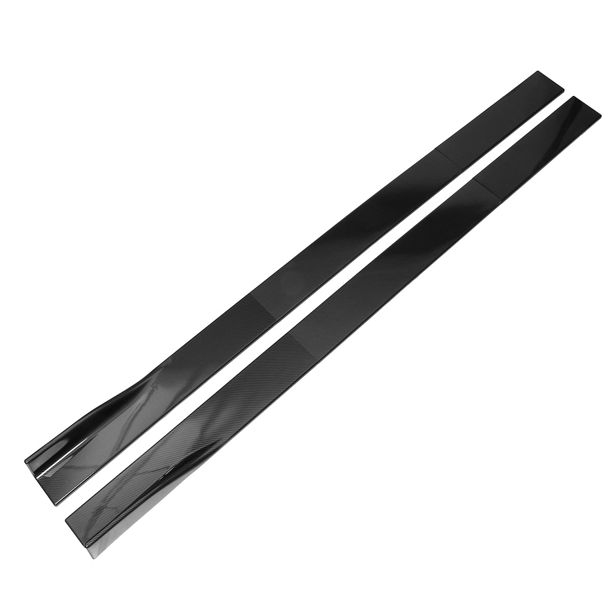 CarbonzoeX: Carbon Black Car Side Skirt Extension