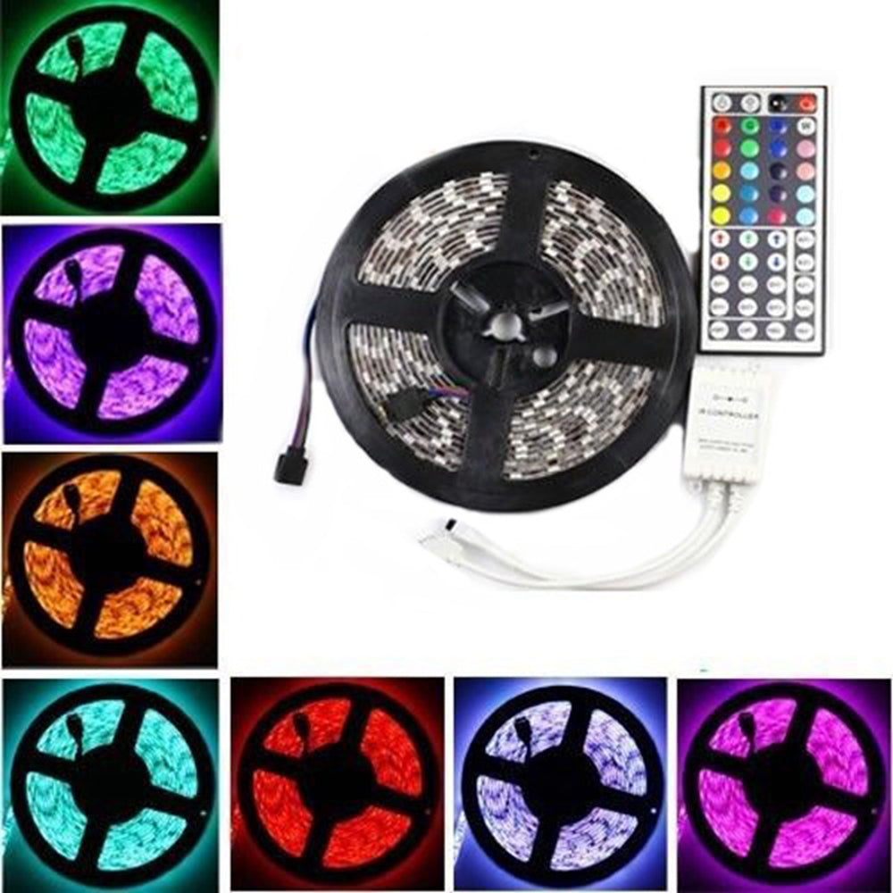 Electro Lyghtz 3X 5M RGB 5050 SMD Non-waterproof 300 LED Lights Strip DC 12V