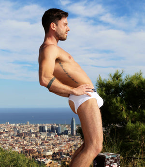 Jockstrap Style Brief - Colour White