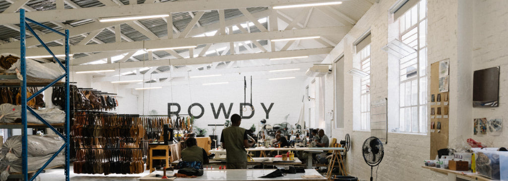 Wide image of the Rowdy factory from inside