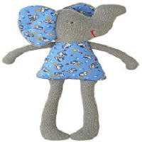Alimrose Toy Rattle - Elephant Nursery Blue (29 cm)