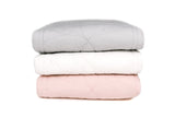 Scallop Edge King Single Quilt Set - Shell Pink