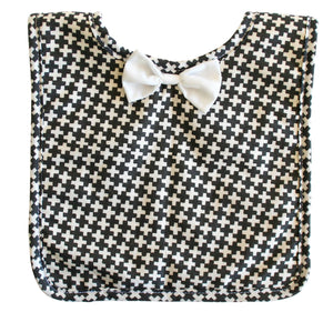 Alimrose Bow Tie Bib - Charcoal Cross
