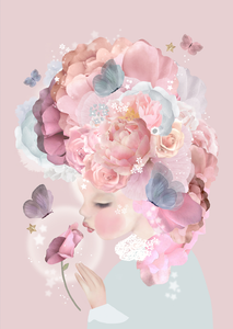 Schmooks Art Print - Rose Kisses