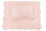 Scallop Edge Single Quilt Set - Shell Pink (July pre-order)