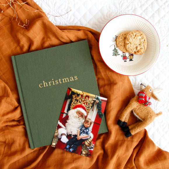 Write to Me - Family Christmas Book - Forest Green