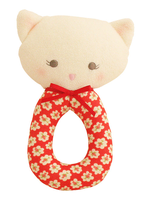 Alimrose Grab Rattle - Rose Kitty