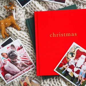Write to Me - Family Christmas Book - Red