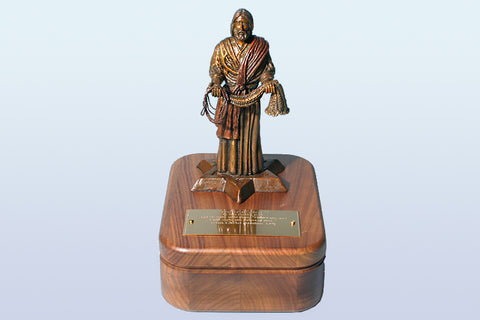 Fisher of Men Sculpture Keepsake Box in Bronze or Pewter