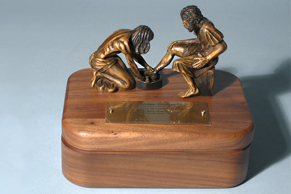 Divine Servant Sculpture Keepsake Box in Bronze or Pewter