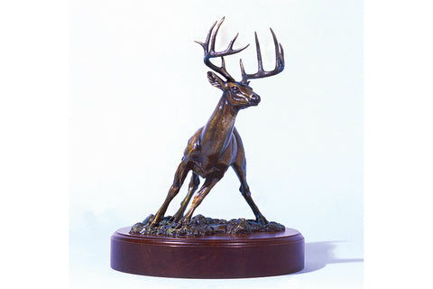 "Wildlife: Change of Heart / ""Lone Buck"" Bronze Sculpture"