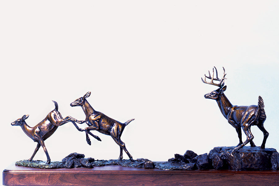 "Wildlife: Change of Heart / ""Herd"" Bronze Sculpture"