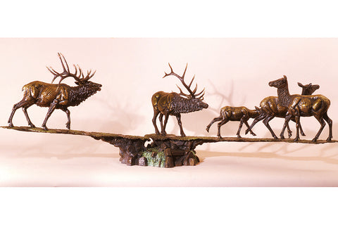 "Wildlife: Rocky Mountain Challenge ""Herd""  Bronze Sculpture"