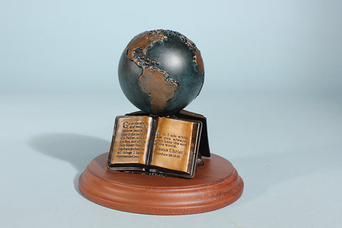 "The Great Commission 5"" Globe Sculpture (available in Bronze or Resin)"