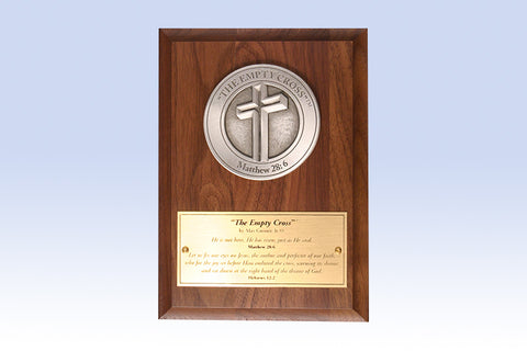 The Empty Cross Medallion Award (in Bronze or Pewter)
