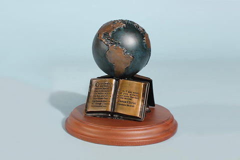 "The Great Commission 3"" Globe Sculpture (available in Bronze or Resin)"