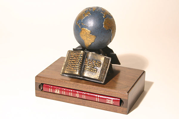 The Great Commission Sculpture with Bible (available in Bronze or Resin)