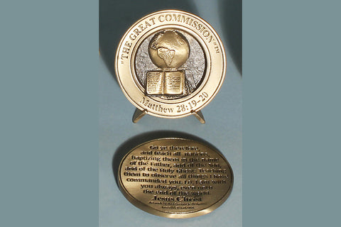 The Great Commission Medallion with Base