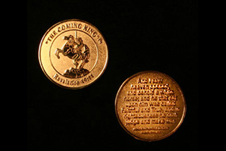 The Coming King 24k Gold Plated Brass Coin