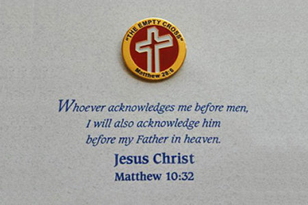 The Empty Cross Lapel Pin