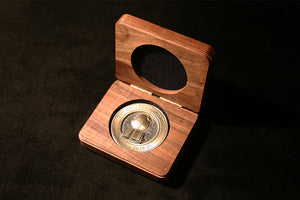 Walnut Presentation Box to Display Medallion