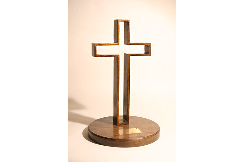"Z The Empty Cross 24"" Bronze Sculpture"