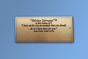 Divine Servant Brass Name Plate