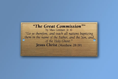 The Great Commission Brass Name Plate