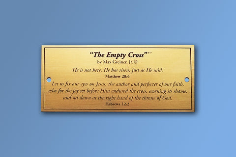 The Empty Cross Brass Name Plate