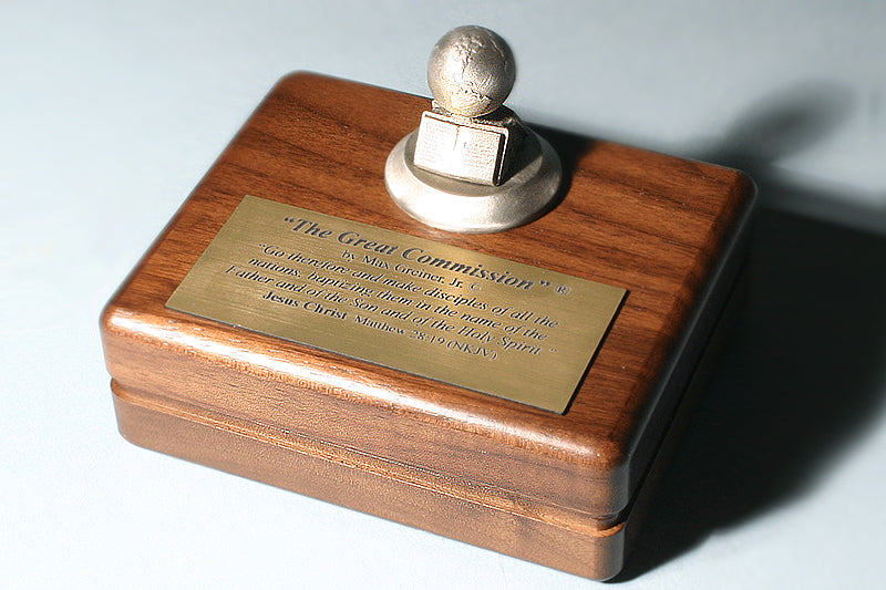 The Great Commission Sculpture keepsake box in Pewter