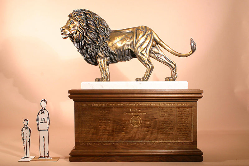 Z Lion of Judah 1-1/2 Life-size Bronze Sculpture (150%)
