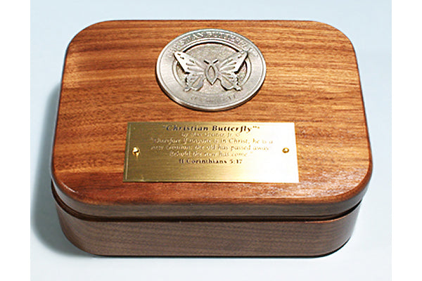 """Christian Butterfly"" Medallion Keepsake Box"