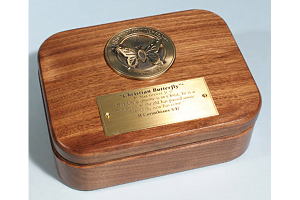 Christian Butterfly Medallion Keepsake Box