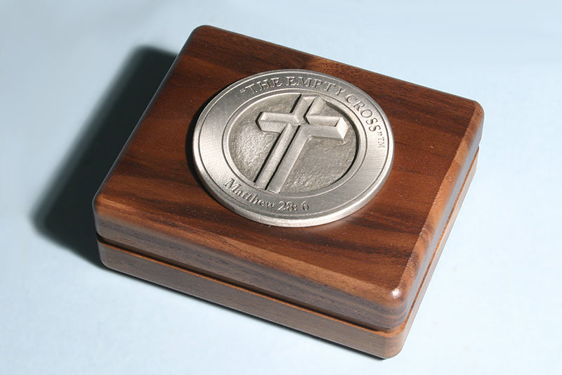 The Empty Cross Medallion Keepsake Box in Bronze or Pewter