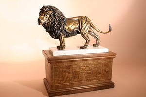 Lion of Judah 1/6 Life-size Bronze Sculpture With Base